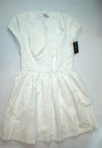 New Juicy Couture Dress Short Womens 4 NWT $198 Off White Floral Brocade Textur image 1