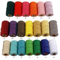 Twisted-Cord Rope 100% Cotton Rope Colorful Twine Strong Thread Accessor... - $5.69+