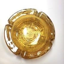 "VTG Anchor Hocking Lido Soreno Amber Yellow Glass Ashtray candy dish retro 6"" - $16.82"