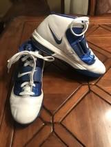 Nike James LeBron Size 11 White Blue Witness Basketball Shoes 407630-103 King - $54.45