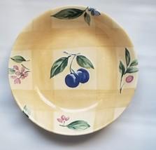 Nikko Ceramic Spring Dance Cereal / Soup Bowl Yellow Plums, Berries Disc... - $14.50