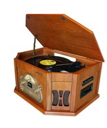 8-in-1 Boytone BT-25WB with Bluetooth Connection Natural wood Classic Tu... - $159.37
