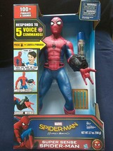 Marvel Spider-Man Motorized 25 IN Tall 100+ Phrases Lights Up & Shoots W... - $267.29