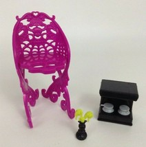 Monster High Doll Replacement Scaris Travel Cafe Cart Accessory 3pc Lot ... - $10.84