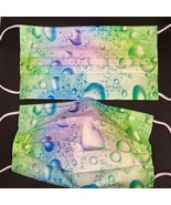 10 pieces green blue water bubbles disposable face mask - $11.00