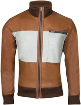 Tarix Fashion Mens Chow Brown Bomber Leather Jacket   - $135.00