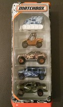 Matchbox 2017 Camo Truck Hummer Ford Digger SUV (5-PACK) SAME-DAY FREE SHIP image 1
