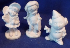 10 variety pieces Cow Pig Clown Boy&Fiddle Girl--Ceramic Bisque -New unp... - $9.50