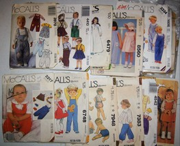 Baby Toddler Vintage McCall's Sewing Patterns Used  Lot of 11 - $2.84