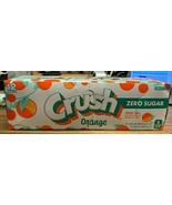 NEW!!! Crush Orange Soda Zero Sugar 12 oz Cans (Pack Of 12) *FAST FREE S... - $24.70
