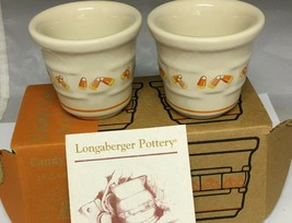 Longaberger Candy Corn Votives - Set of 2 - NEW IN BOX - Made in USA - $19.55