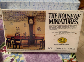 Dollhouse House of Miniatures Hepplewhite 3 Pc Dining Room Table 40006 S... - $19.99