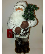 St. Nicholas Collection Santa Seasons Designs Lantern Sweater Fur Boots ... - $12.82