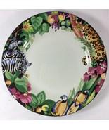 Vitromaster Rain Forest Safari Sue Zipkin 1 Lunch Salad Plate 1993 - $26.75