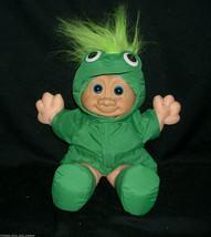 Vintage Russ Berrie Troll Infantil Kidz 2412 Rana Compatible Peluche Juguete - $30.73