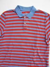 Gap Polo Shirt Peach & Blue Striped the Modern Pique Polo Shirt M $30 image 2