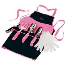 Gardening Tool Kit Woman's Pink 7 Piece Trowl Rake Knee Pad Apron Gloves... - $739,94 MXN