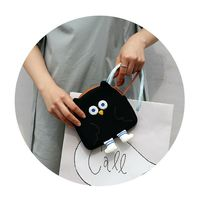 Brunch Brother Flying Owl Pouch Cosmetic Bag Case Organizer (Black) image 4