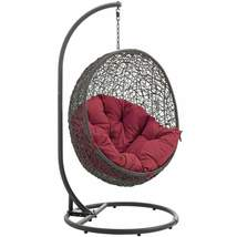 Hide Hanging Swing Chair with Gray Stand EEI-2273 - $548.99+