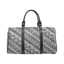 African Pattern Black White Style Large Travel Bag Custom Handmade Women... - $129.97