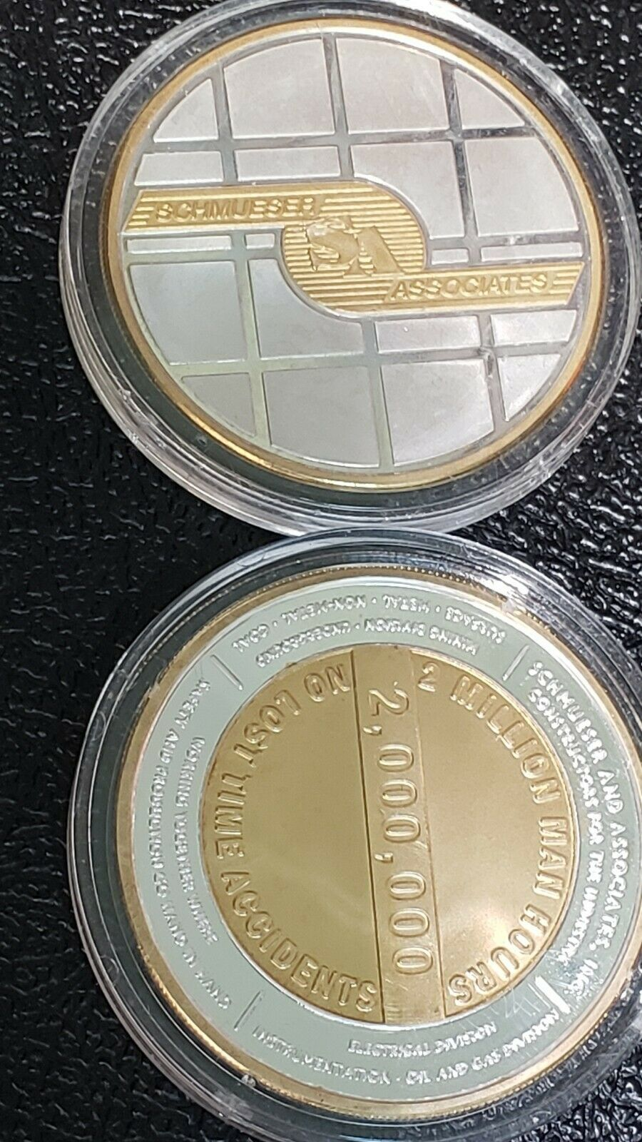 RARE 4 Ounces Total. - 2x 2oz Rounds NWTM .999 Fine Silver Schmueser Associates