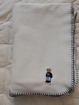 "RALPH LAUREN POLO LRL Blanket Throw Teddy Bear Fleece Cream 52"" x 64"" - $99.95"