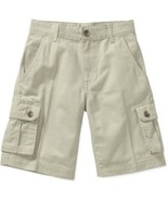 Faded Glory Boys Solid Cargo Shorts Sidewalk Color Size 5 NEW - $12.86