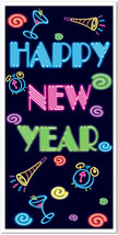 Happy New Year Door Cover Party Accessory (1 count) (1/Pkg) - $12.53
