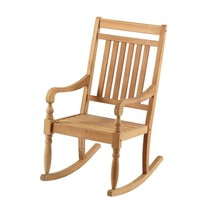 Outdoor Seating Furniture Solid Teak Wood Rot and Decay Resistant Rocki... - $170.91