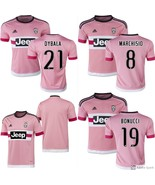 Pink Juventus Jersey Dybala, Higuain, Marchisio, Bonucci, Blank, Mens S M L XL  - $26.95