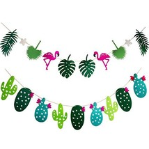Flamingo and Cactus Tropical Banner by WATINC for Summer Decoration, Haw... - ₨737.55 INR