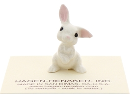 Hagen-Renaker Miniature Ceramic Rabbit Figurine White Bunny Baby