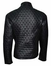 True Blood Alexender Eric Northman Black Quilted Leather Jacket image 2