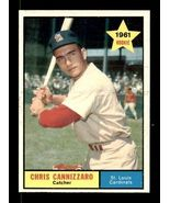VINTAGE MLB 1961 Topps #118 CHRIS CANNIZZARO EX-MT - $4.50
