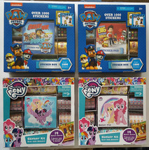 """Paw Patrol & My Little Pony Sticker sets over 1000 stickers """"You Pick"""" $8.00 ea - $7.92"""