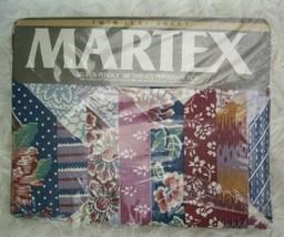 VTG Martex Nebraska Patchwork Pattern Twin Flat Sheet Percale NOS 1980s ... - $50.00