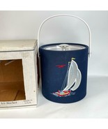 NEW Custom Deco Inc Ice Bucket 3.5 Quart Sailboat Embroidered Cloth - $29.69