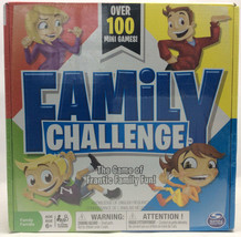 NEW Family Challenge Board Game Spin Master 100+ Mini Games Family Game Night - $12.04