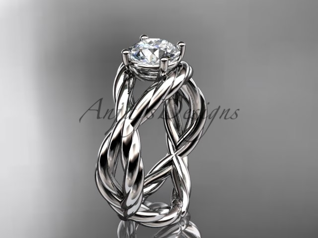 Tinum  diamond wedding ring  rope ring  diamond engagement ring  forever brilliant moissanite  1