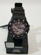 Casio Gray Camo Men's Analog Black Resin Band Watch 100m Water MRW220HCM... - $13.54