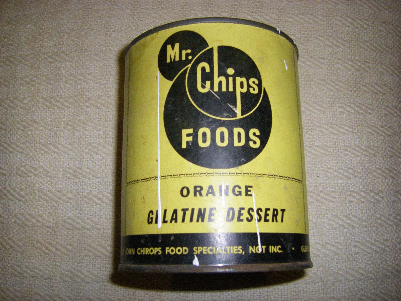 Mr. Chips Foods Can Orange Gelatind Dessert