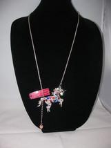 New Betsey Johnson Multi-color Rhinestone Unicorn Pendant on long chain - $24.50
