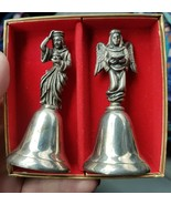 Vintage Reed & Barton Wise Man & Angel Nativity Bell Christmas Set of 2 ... - $18.99