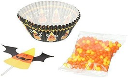 Wilton 415-3174 Candy Corn Cupcake Decorating Kit, Assorted - $7.65