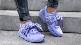 New PUMA RIHANNA Size 9 FENTY Purple Satin Bow Sneakers Shoes image 1