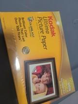 New Kodak Ultima SATIN Photo Picture Paper 20 4x6 Sheets Borderless Inkjet  - $4.95