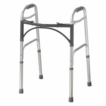 """Drive Deluxe Aluminum 32 to 39"""" H Folding Walker up to 350 lbs - $68.26"""