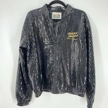 Vtg 90s New York New York Hotel & Casino Vegas Womens Sequined Varsity J... - $44.50