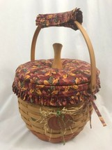 Longaberger 1997 Large Pumpkin Basket Combo with Padded Lid, Protector - $66.49