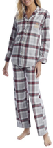 Lauren Ralph Lauren GREY PLAID Print Pajama Set, US Small - $40.99
